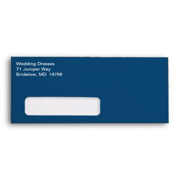 Professional Business White Text Commercial Traditional Monaco Blue Envelope