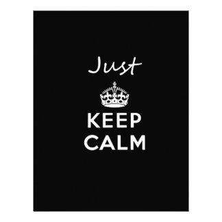 White Text Just Keep Calm Letterhead