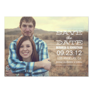 White Text l Save the date Photo Announcements