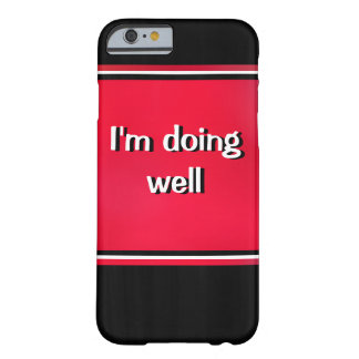 White Text on Red iPhone 6 Case
