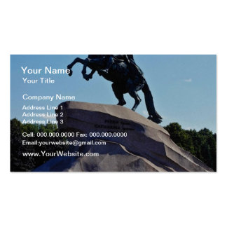 White The Bronze Horseman, St. Petersburg, Russia Business Card Template