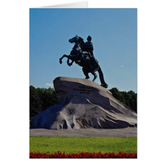 White The Bronze Horseman St Petersburg Russia Cards