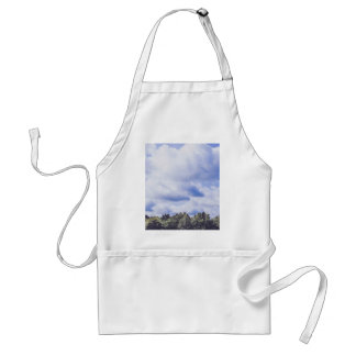 White Themed, White Huge Cumulonimbus Covering Blu Adult Apron