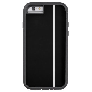 White Thin Vertical Line on Black Tough Xtreme iPhone 6 Case