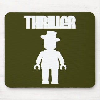 White Thriller Minifig by Customize My Minifig Mouse Pad