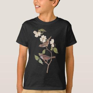 White Throated Sparrow Audubon Reproduction T-Shirt