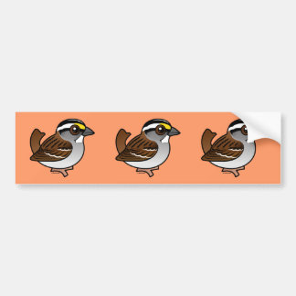 White-throated Sparrow Car Bumper Sticker
