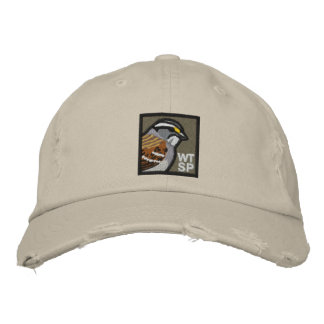 White-throated Sparrow: embroidered hat