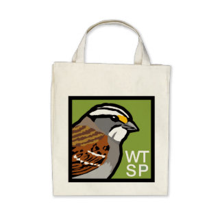 White-throated Sparrow grocery tote Canvas Bag