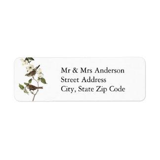 White-throated Sparrow - John Audubon Custom Return Address Label
