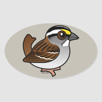 White-throated Sparrow Oval Sticker