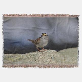 White-throated sparrow throw