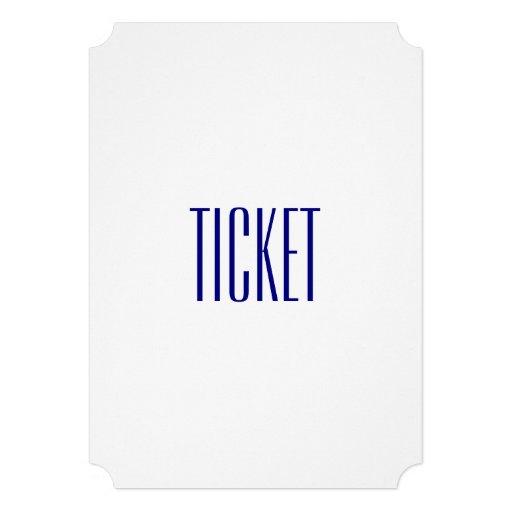 White Ticket Police Graduation Invitations (back side)