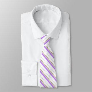 White Tie With Stripes