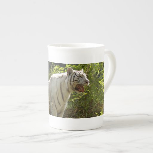 White tiger 007 bone china mugs