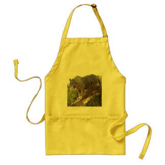 White tiger 013 adult apron