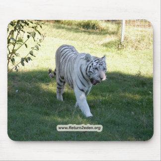 White tiger 016 copy mouse pad