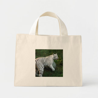 White tiger 019 tote bags