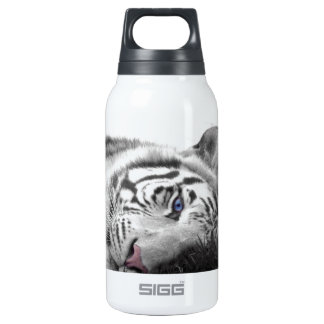 White tiger 10 oz insulated SIGG thermos water bottle