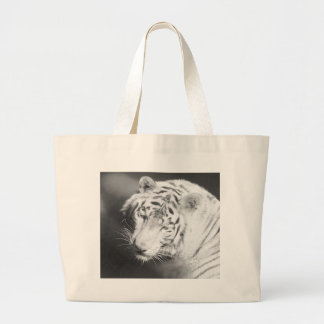 White Tiger 2 Large Tote Bag