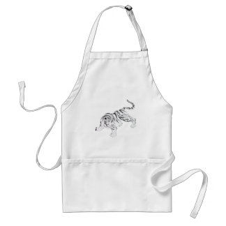White Tiger Adult Apron
