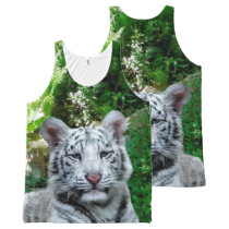 White Tiger All-Over-Print Tank Top