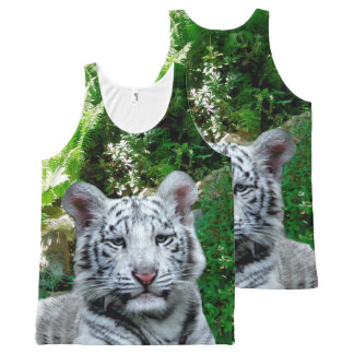 White Tiger All-Over Printed Tank Top