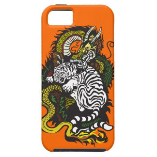 white tiger and green dragon iPhone SE/5/5s case
