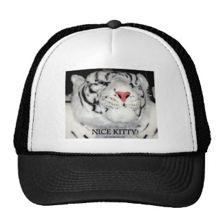 WHITE TIGER AND HOUSE CATS TRUCKER HAT