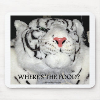 WHITE TIGER AND PHRASES 2 MOUSE PAD
