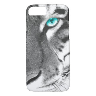 White Tiger aqua eye iPhone 7 Case