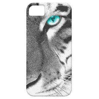 White Tiger aqua eye iPhone SE/5/5s Case