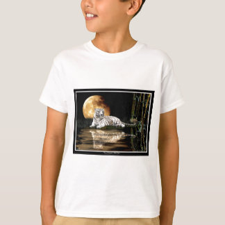 WHITE TIGER Art Design T-Shirt