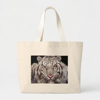 White Tiger Tote Bags