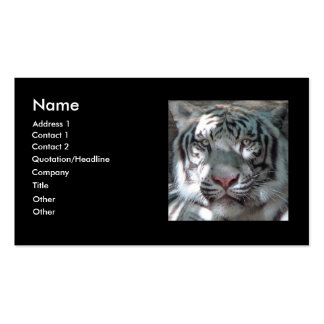 White Tiger Bengal Business Card