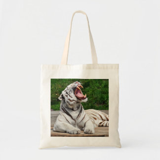 White Tiger, Bengal Tiger Canvas Bags