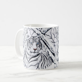 White Tiger Blending In Coffee Mug
