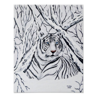 White Tiger Blending In Poster