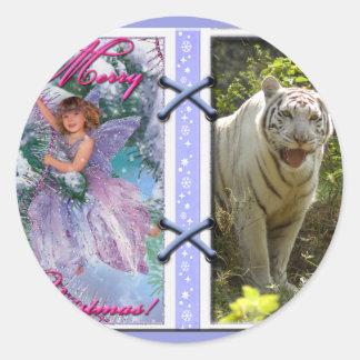 White Tiger-c-45 copy Classic Round Sticker