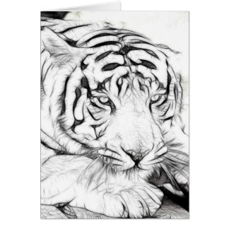 White Tiger Greeting Cards