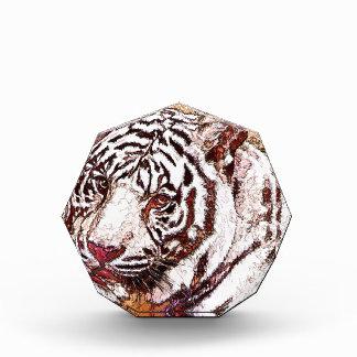 White Tiger Cartoon Acrylic Award