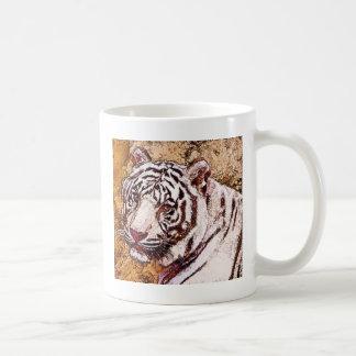 White Tiger Cartoon Coffee Mug