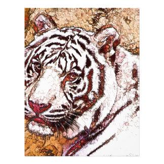 White Tiger Cartoon Letterhead Template
