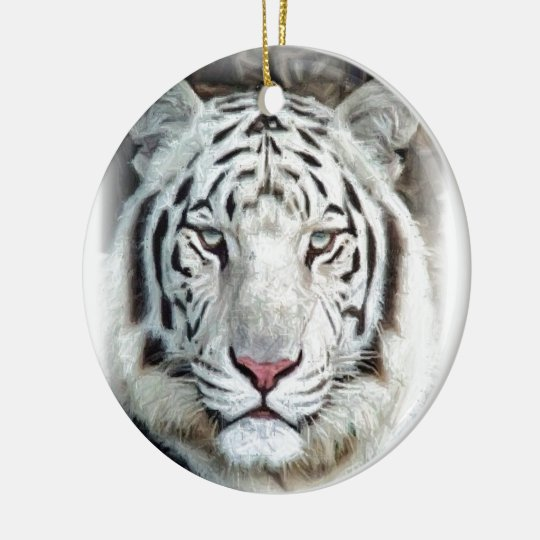 WHITE TIGER CERAMIC ORNAMENT