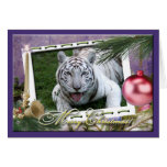White Tiger Christmas Greeting Card