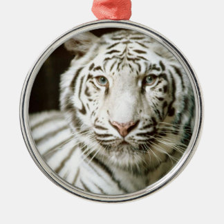 White Tiger Christmas Tree Ornaments