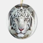 WHITE TIGER CHRISTMAS TREE ORNAMENTS
