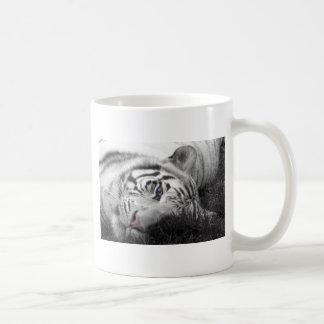 White tiger classic white coffee mug
