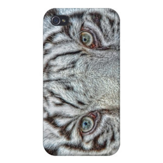 White Tiger Close Up 4  iPhone 4 Cases
