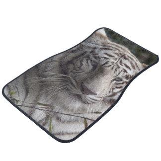 White Tiger Close-up Floor Mat